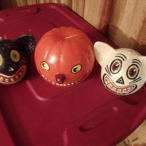 Dept 56 Vintage early p90's Halloween candles.